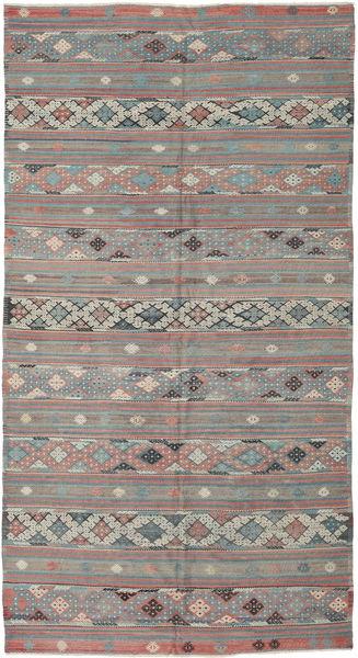 Kilim Turquie Tapis 168X314 D'orient Tissé À La Main Gris Clair/Vert Foncé (Laine, Turquie)
