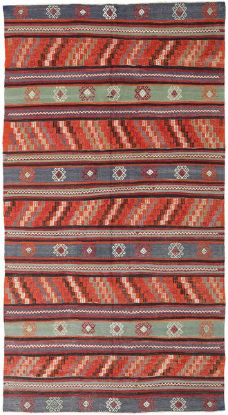 Kilim Turquie Tapis 170X314 D'orient Tissé À La Main Rouge Foncé/Noir (Laine, Turquie)