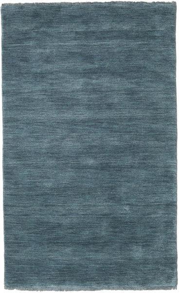 Handloom Fringes - Petrole Profonde Tapis 100X160 Moderne Bleu (Laine, Inde)