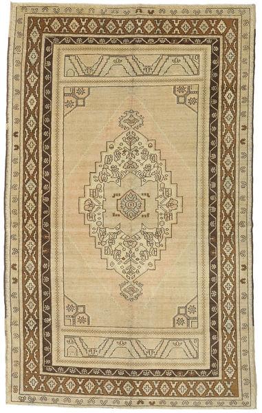 Taspinar Tapis 161X260 D'orient Fait Main Beige Foncé/Vert Clair (Laine, Turquie)