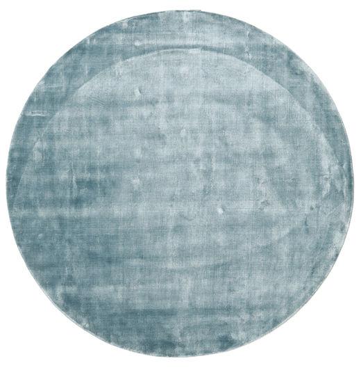 Broadway - Bleu Glace Tapis Ø 200 Moderne Rond Bleu Clair ( Inde)