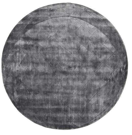 Brooklyn - Stormy Grey Tapis Ø 300 Moderne Rond Gris Foncé/Gris Clair Grand ( Inde)
