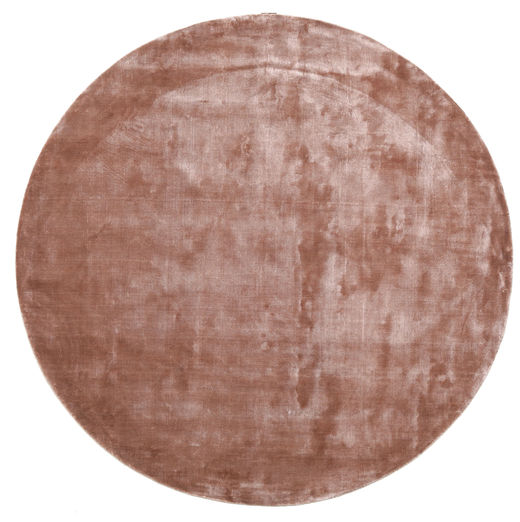 Broadway - Dusty Rose Tapis Ø 300 Moderne Rond Rouge Foncé/Rose Clair/Marron Clair Grand ( Inde)