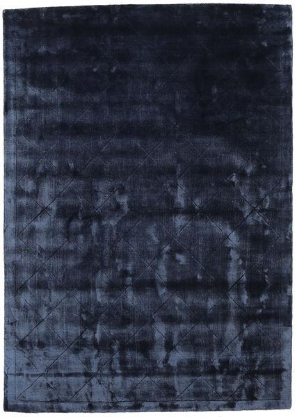 Brooklyn - Bleu Nuit Tapis 140X200 Moderne Bleu Foncé/Bleu ( Inde)