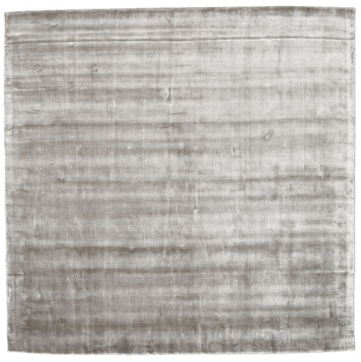 Broadway - Gris Tendre Tapis 250X250 Moderne Carré Gris Clair Grand ( Inde)