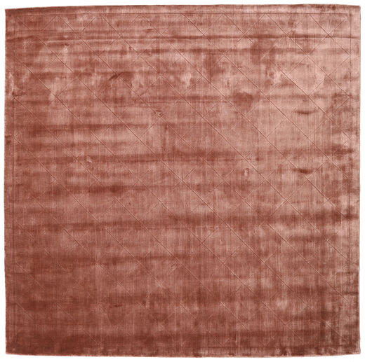 Brooklyn - Pale Copper Tapis 250X250 Moderne Carré Rouge Foncé/Marron Clair Grand ( Inde)