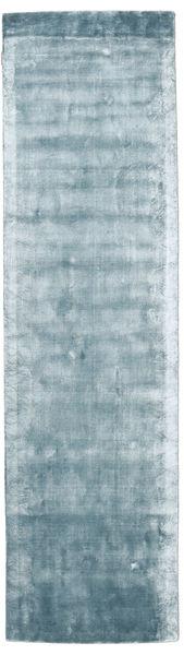 Broadway - Bleu Glace Tapis 80X300 Moderne Tapis Couloir Bleu Clair ( Inde)