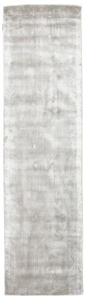 Broadway - Argenté Blanc Tapis 80X300 Moderne Tapis Couloir Gris Clair/Beige ( Inde)