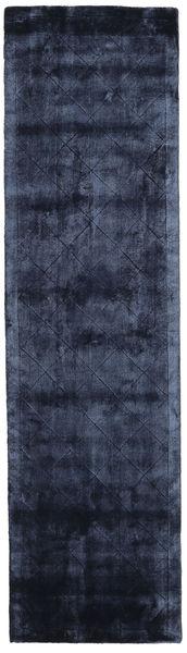 Brooklyn - Bleu Nuit Tapis 80X300 Moderne Tapis Couloir Bleu Foncé/Bleu ( Inde)