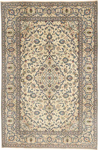 Kashan Patina Tapis 195X302 D'orient Fait Main Gris Clair/Beige (Laine, Perse/Iran)