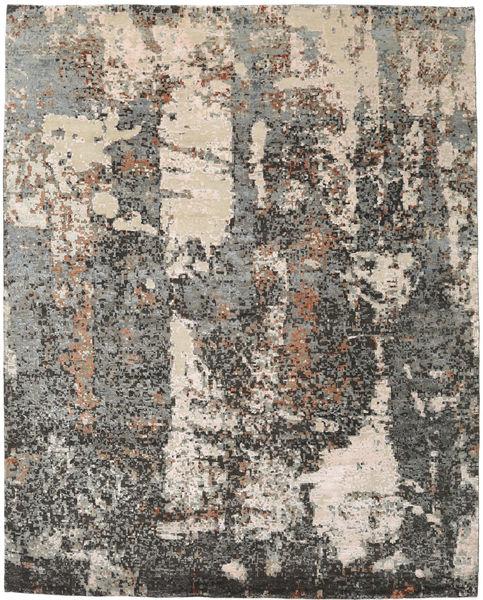 Viscose Moderne Tapis 243X304 Moderne Fait Main Gris Clair/Gris Foncé ( Inde)