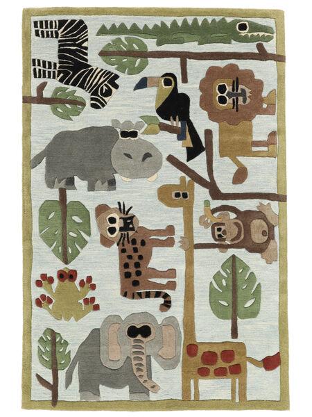 Zoo Handtufted Tapis 170X240 Moderne Gris Clair/Bleu Clair (Laine, Inde)