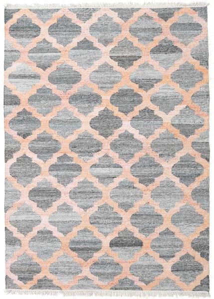 Kathi - Gris/Coral Tapis 170X240 Moderne Tissé À La Main Gris Clair/Rose Clair ( Inde)