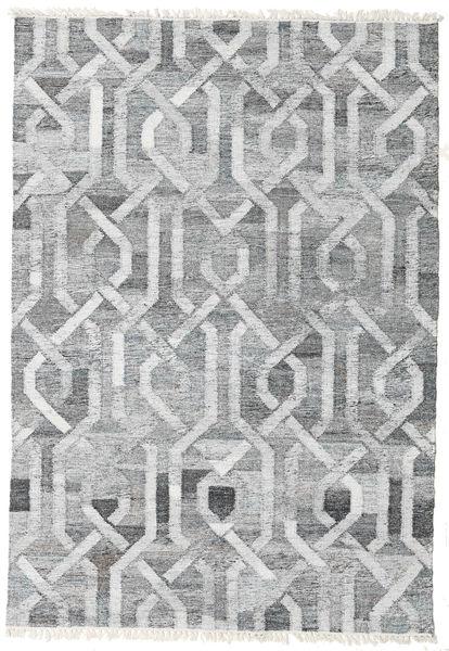 Tapis D'extérieur Trinny - Foncé Gris/Gris Tapis 140X200 Moderne Tissé À La Main Gris Clair/Blanc/Crème ( Inde)