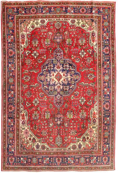 Tabriz Tapis 196X288 D'orient Fait Main Rouge Foncé/Marron Clair (Laine, Perse/Iran)
