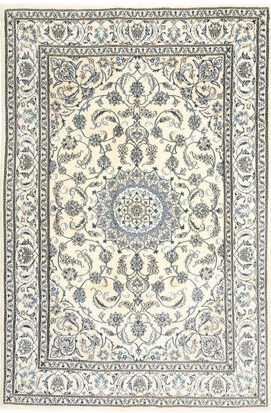 Naïn Tapis 195X300 D'orient Fait Main Beige/Gris Clair/Gris Foncé (Laine, Perse/Iran)