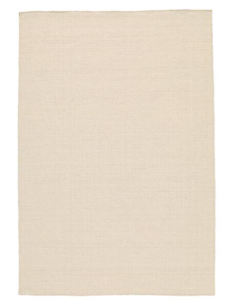 Kilim Loom - Natural Tapis 140X200 Moderne Tissé À La Main Beige/Blanc/Crème (Laine, Inde)