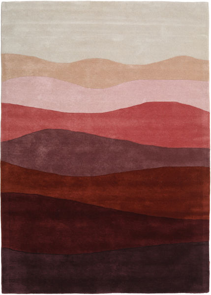 Feeling Handtufted - Wine Tapis 160X230 Moderne Rouge Foncé/Gris Clair (Laine, Inde)