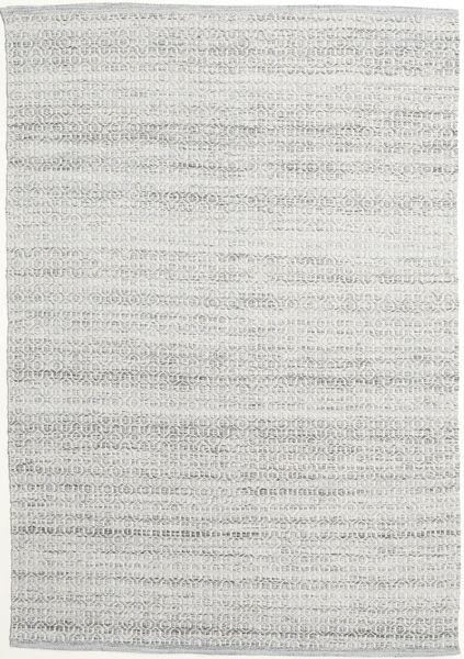 Alva - Gris/Blanc Tapis 160X230 Moderne Tissé À La Main Gris Clair (Laine, Inde)
