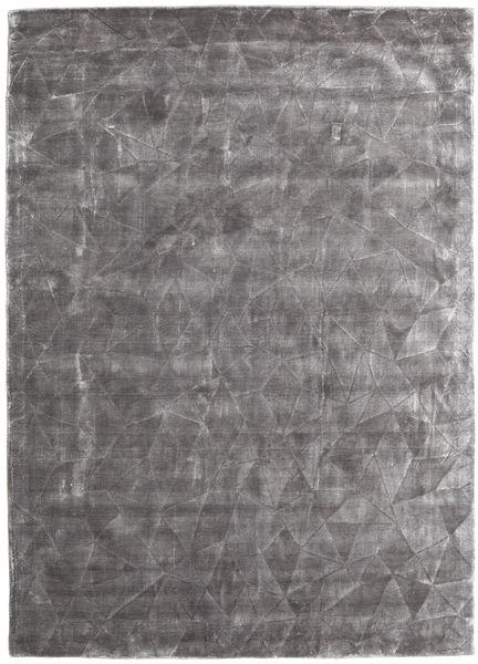 Crystal - Gris Tendre Tapis 140X200 Moderne Gris Clair/Marron Foncé ( Inde)