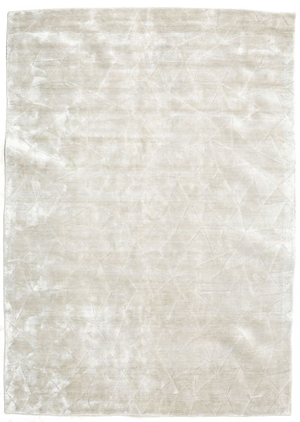 Crystal - Blanc Argent Tapis 140X200 Moderne Gris Clair/Beige Foncé ( Inde)