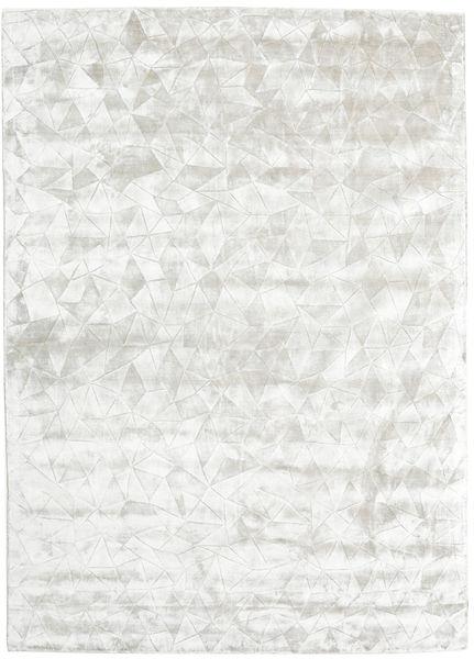 Crystal - Blanc Argent Tapis 210X290 Moderne Gris Clair/Beige ( Inde)