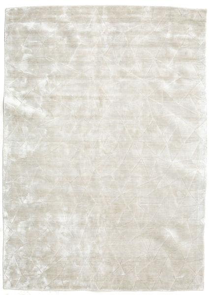 Crystal - Blanc Argent Tapis 300X400 Moderne Beige Foncé/Gris Clair Grand ( Inde)