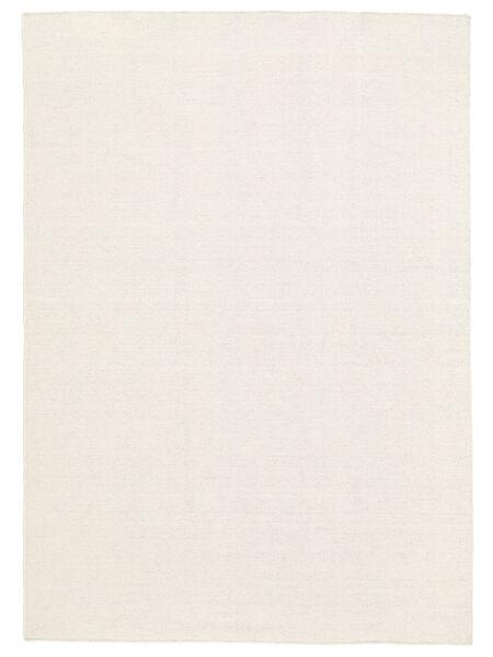 Kilim Loom - Blanc Écru Tapis 160X230 Moderne Tissé À La Main Beige (Laine, Inde)