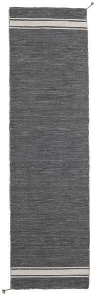 Ernst - Gris Foncé/Beige Clair Tapis 80X300 Moderne Tissé À La Main Tapis Couloir Gris Foncé (Laine, Inde)