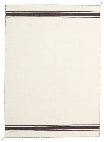 Ernst - Blanc Écru/Marron Tapis 170X240 Moderne Tissé À La Main Beige (Laine, Inde)