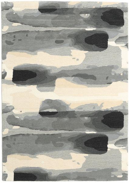 Ink - Gris Tapis 160X230 Moderne Gris Clair/Beige (Laine, Inde)