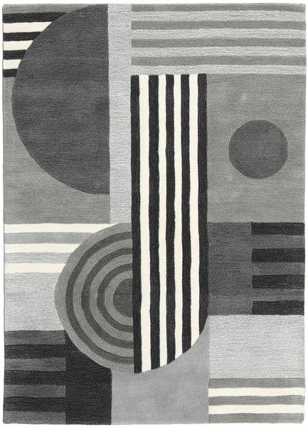 Tilt - Gris Tapis 160X230 Moderne Gris Clair/Vert Foncé (Laine, Inde)