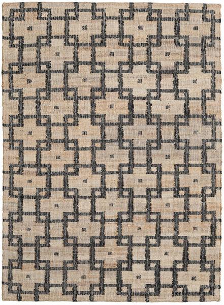 Tapis D'extérieur Tudor Tapis 160X230 Moderne Tissé À La Main Gris Clair/Gris Foncé (Tapis De Jute Inde)