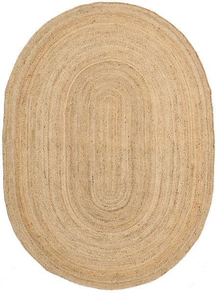 Tapis D'extérieur Frida Oval - Natural Tapis 160X230 Moderne Tissé À La Main Beige Foncé/Beige (Tapis De Jute Inde)