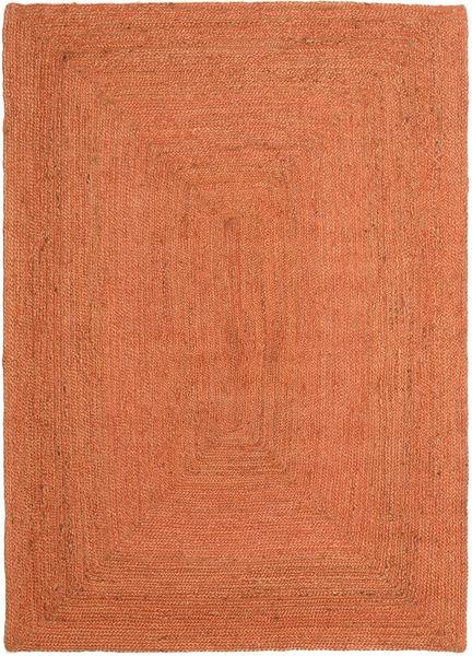 Tapis D'extérieur Frida Color - Orange Tapis 140X200 Moderne Tissé À La Main Orange/Rouge (Tapis De Jute Inde)