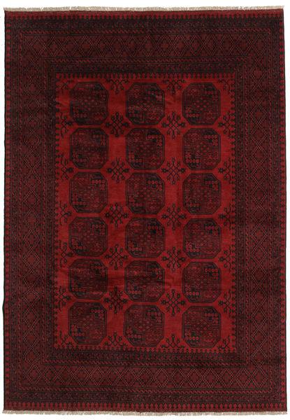 Afghan Tapis 199X281 D'orient Fait Main Rouge Foncé (Laine, Afghanistan)