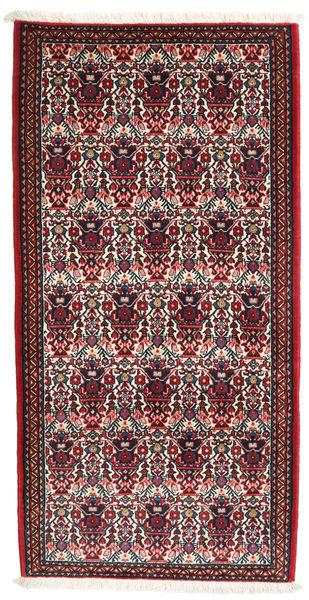 Abadeh Tapis 73X144 D'orient Fait Main Rouge Foncé/Marron Foncé (Laine, Perse/Iran)