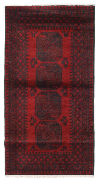 Afghan Tapis 103X193 D'orient Fait Main Rouge Foncé/Noir (Laine, Afghanistan)