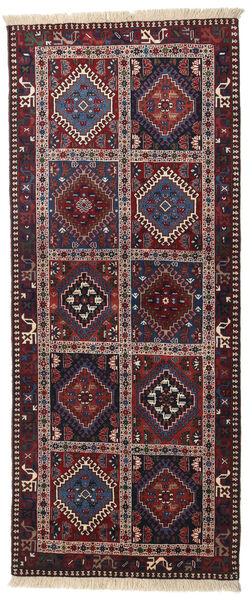Yalameh Tapis 80X198 D'orient Fait Main Tapis Couloir Rouge Foncé/Gris Foncé (Laine, Perse/Iran)