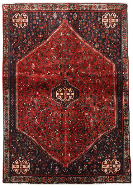 Abadeh Tapis 124X176 D'orient Fait Main Rouge Foncé/Marron Foncé (Laine, Perse/Iran)