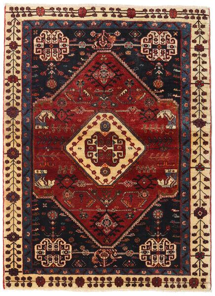 Ghashghaï Tapis 108X148 D'orient Fait Main Rouge Foncé/Noir (Laine, Perse/Iran)