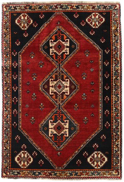 Ghashghaï Tapis 115X169 D'orient Fait Main Noir/Rouge Foncé (Laine, Perse/Iran)