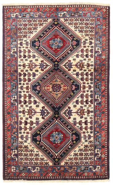 Yalameh Tapis 103X170 D'orient Fait Main Violet Foncé/Rouge Foncé (Laine, Perse/Iran)