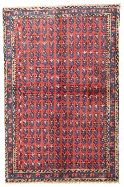 Wiss Tapis 100X155 D'orient Fait Main Gris Foncé/Rouge (Laine, Perse/Iran)