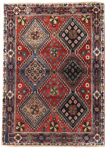 Yalameh Tapis 115X162 D'orient Fait Main Marron Foncé/Rouge Foncé (Laine, Perse/Iran)