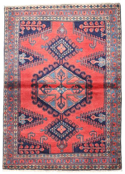 Wiss Tapis 110X155 D'orient Fait Main Violet Foncé/Gris Foncé (Laine, Perse/Iran)