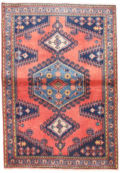 Wiss Tapis 100X145 D'orient Fait Main Rose Clair/Violet Foncé (Laine, Perse/Iran)