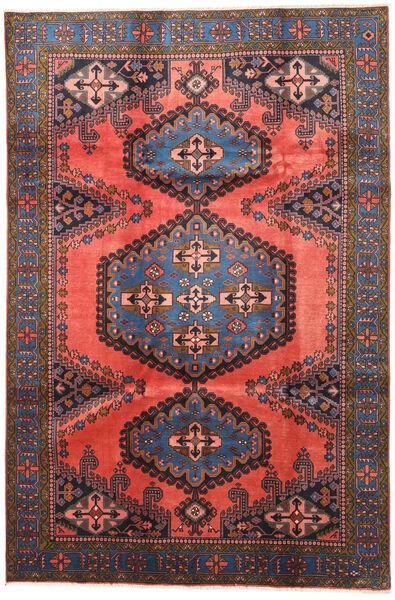 Wiss Tapis 210X315 D'orient Fait Main Rouge Foncé/Gris Foncé (Laine, Perse/Iran)