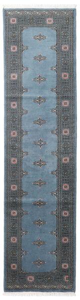 Pakistan Boukhara 2Ply Tapis 78X304 D'orient Fait Main Tapis Couloir Bleu/Bleu Foncé/Gris Foncé (Laine, Pakistan)