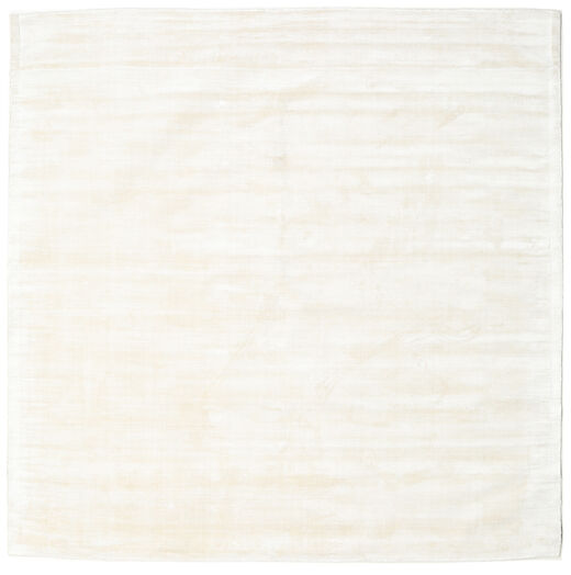 Tribeca - Blanc Perle Tapis 250X250 Moderne Carré Beige Grand ( Inde)